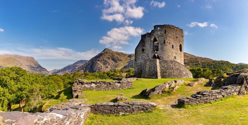 Rovine del castello di Dolbadarn, Gwnedd, Galles immagine stock