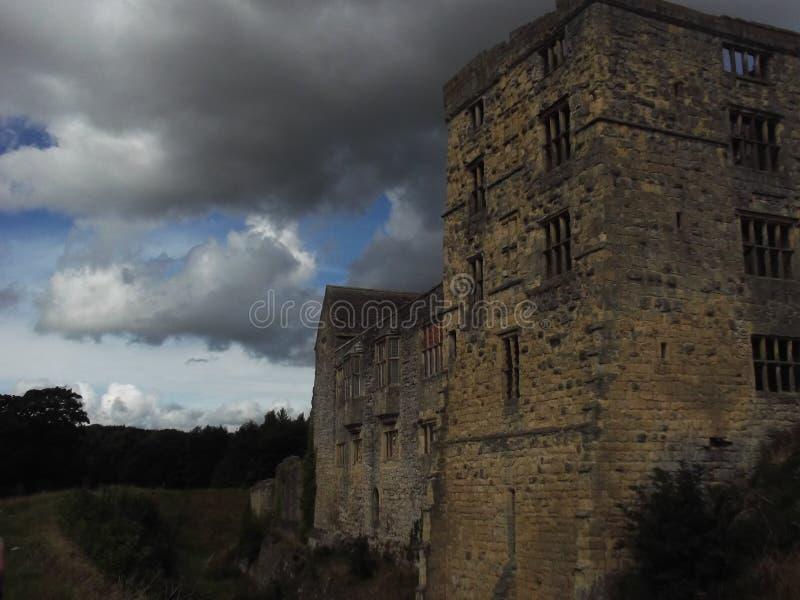 Rovine del castello di Helmsley fotografie stock