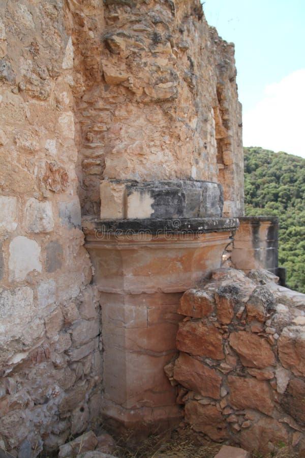 Rovine del castello di Monfort immagine stock