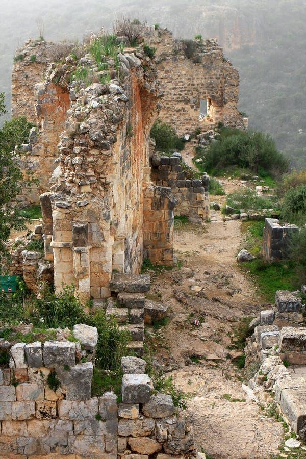 Rovine del castello di Montfort, Israele immagini stock libere da diritti