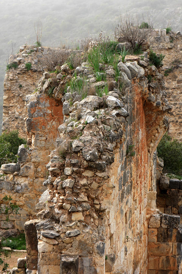 Rovine del castello di Montfort, Israele fotografia stock libera da diritti