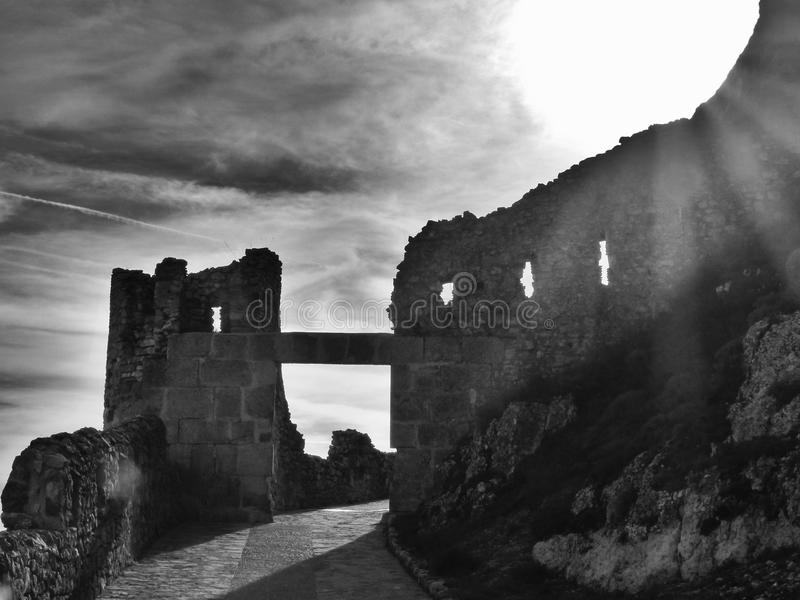 Rovine del castello di Morella immagine stock libera da diritti