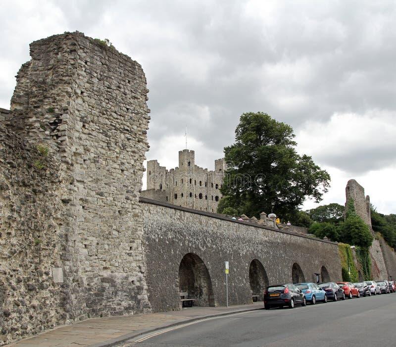 Rovine del castello di Rochester immagini stock libere da diritti