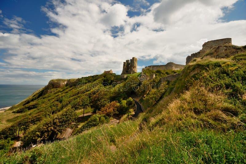 Rovine del castello di Scarborough fotografia stock