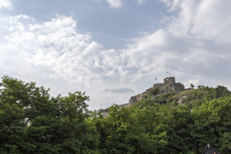 Rovine del castello di Sirok immagini stock libere da diritti