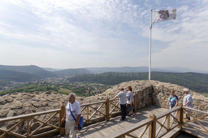 Rovine del castello di Sirok fotografie stock libere da diritti