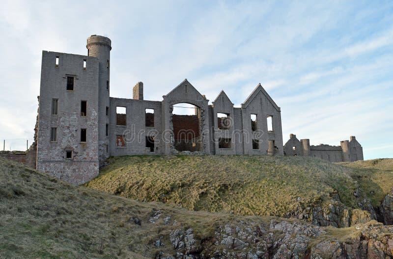 Rovine del castello di Slains, Aberdeenshire, Scozia fotografie stock