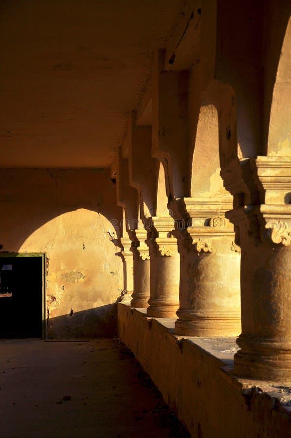 Rovine del castello nobile immagine stock