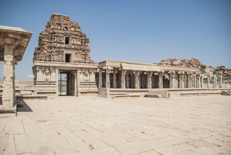 Rovine del complesso del tempio di Vittala, Hampi, il Karnataka, India immagine stock libera da diritti