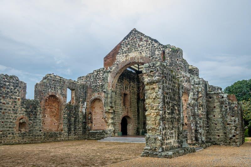 Rovine del convento del ³ n alle rovine del Panama Viejo - Panamá, Panama di Concepcià della La di Conception Convento de las Mon immagine stock libera da diritti