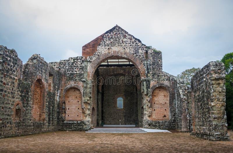 Rovine del convento del ³ n alle rovine del Panama Viejo - Panamá, Panama di Concepcià della La di Conception Convento de las Mon immagine stock