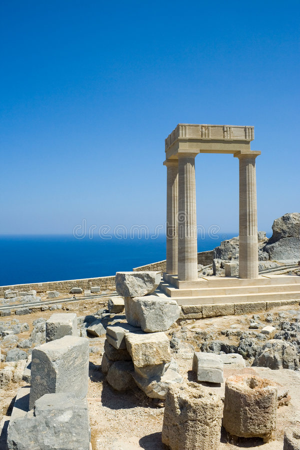 Rovine del greco antico immagini stock
