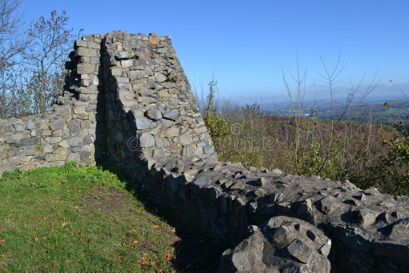 Rovine del Löwenburg fotografia stock