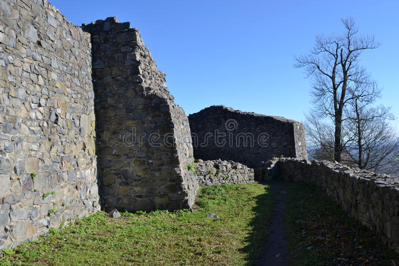 Rovine del Löwenburg immagine stock