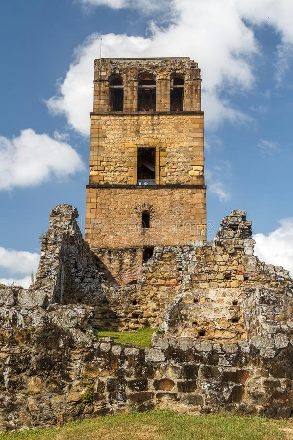 Rovine del Panama Viejo, sito del patrimonio mondiale dell'Unesco fotografia stock
