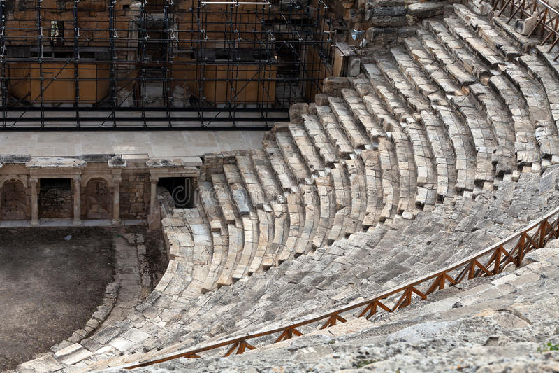 Rovine del teatro in Hieropolis, fotografie stock