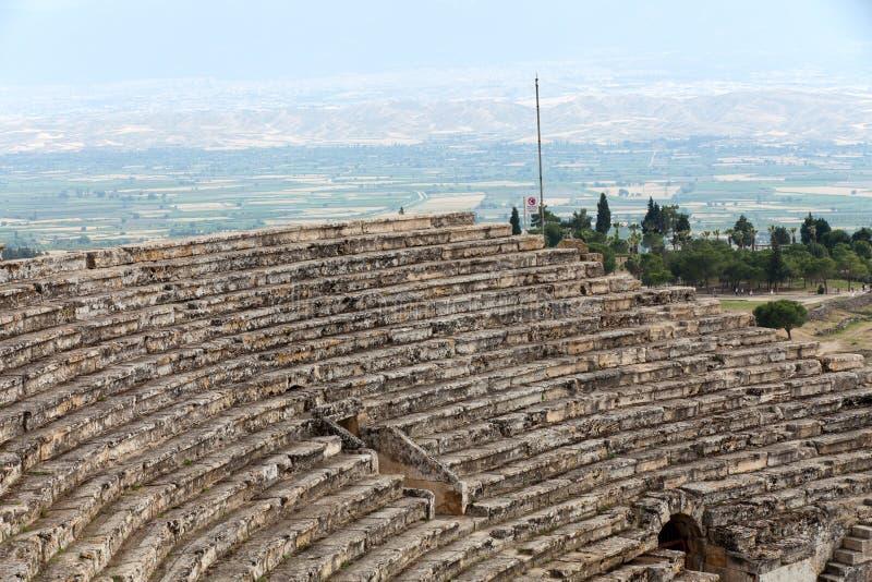 Rovine del teatro in Hieropolis, Pamukkale, immagini stock libere da diritti