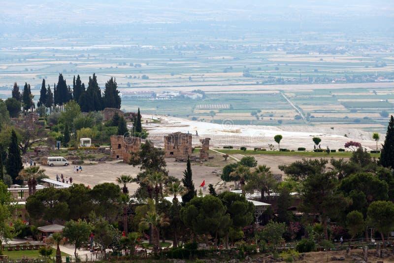 Rovine del teatro in Hieropolis, Pamukkale, fotografia stock libera da diritti