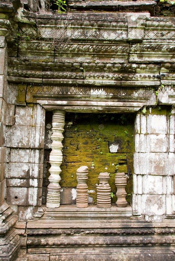 Rovine del tempiale del champasak di phu di Wat, Laos immagine stock libera da diritti