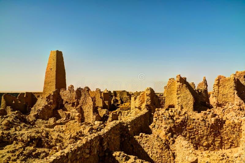 Rovine del tempio di Amun Oracle, oasi di Siwa, Egitto immagini stock
