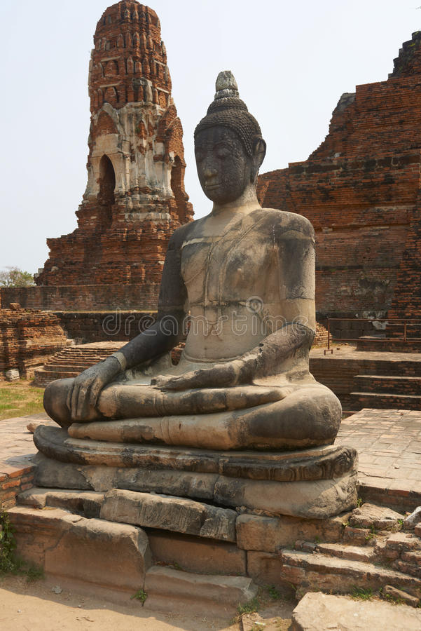 Rovine del tempio di Ayutthaya immagine stock libera da diritti