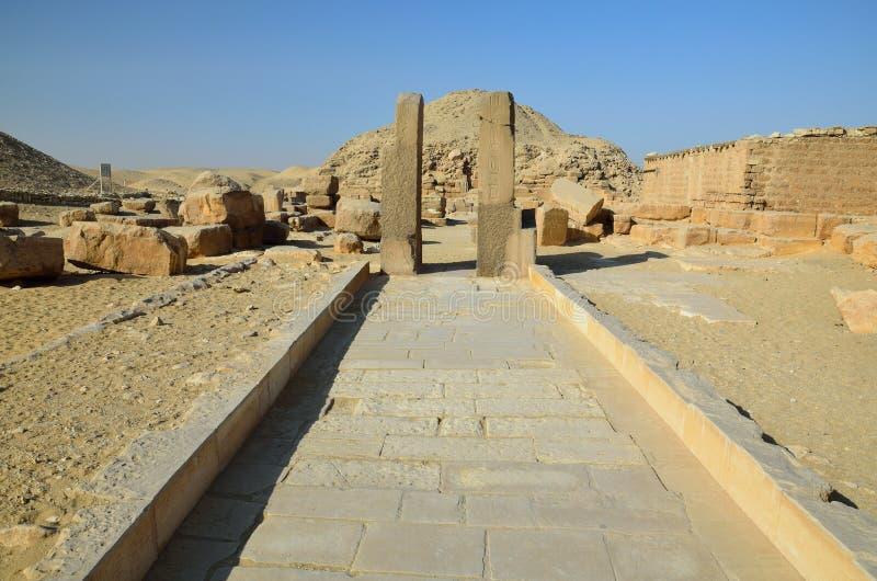 Rovine del tempio egiziano immagine stock libera da diritti