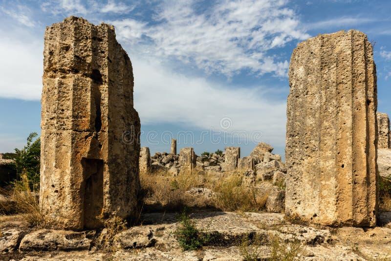 Rovine del tempio F in Selinunte immagini stock libere da diritti