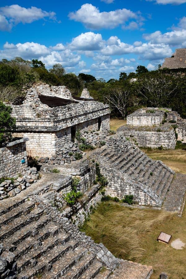 Rovine del tempio maya antico in Ek Balam fotografie stock libere da diritti