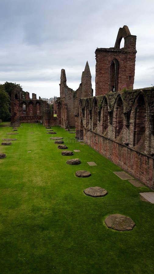 Rovine dell'abbazia di Arbroath immagine stock