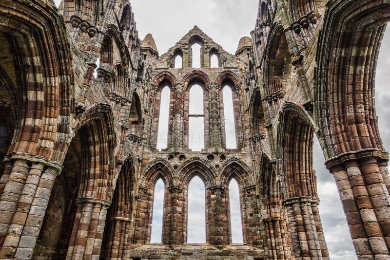 Rovine dell'abbazia di Whithby fotografie stock libere da diritti