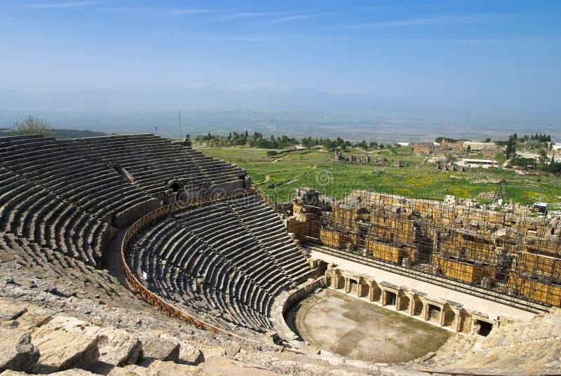 Download Rovine Dell'anfiteatro In Hierapolis, Turchia Immagine Stock - Immagine di architettura, posto: 56881983
