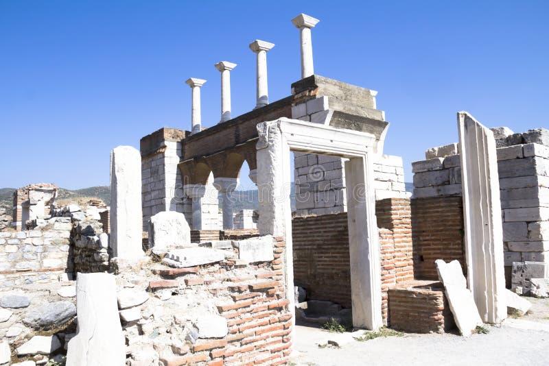 Rovine della basilica di St Johns fotografie stock