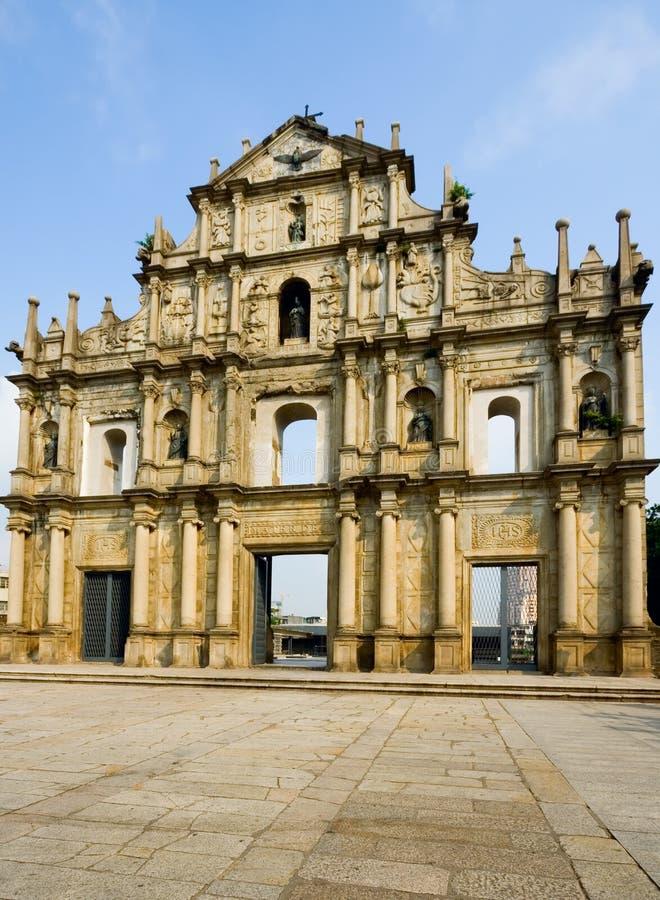 Rovine della cattedrale della st Paul immagini stock