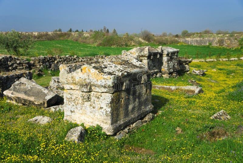Download Rovine Della Città Antica Di Hierapolis Fotografia Stock - Immagine di nube, anatolia: 56883010