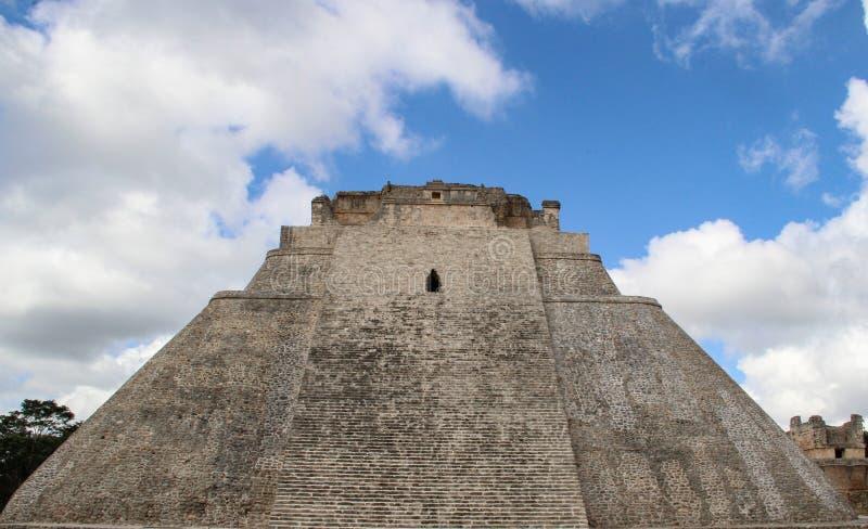 Rovine della città antica di Uxmal fotografia stock libera da diritti