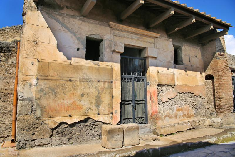 Rovine della città antica Pompeii immagini stock libere da diritti