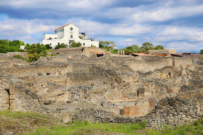 Rovine della città antica Pompeii fotografia stock