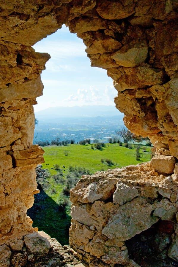 Rovine della città antica sparate un giorno soleggiato luminoso fotografia stock