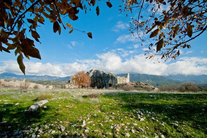 Rovine della città antica sparate un giorno soleggiato luminoso fotografie stock libere da diritti