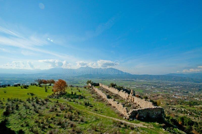 Rovine della città antica sparate un giorno soleggiato luminoso immagine stock libera da diritti