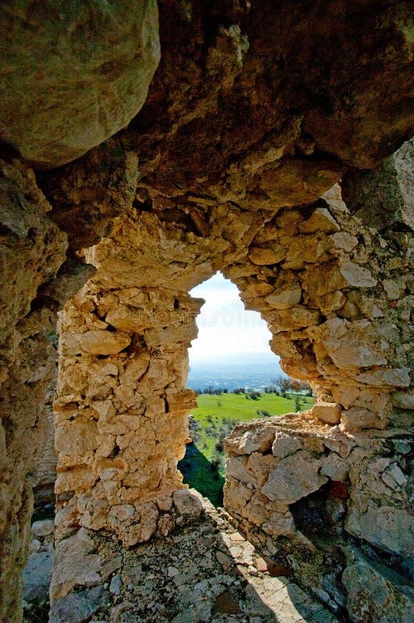 Rovine della città antica sparate un giorno soleggiato luminoso immagini stock libere da diritti