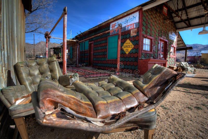 Rovine della città fantasma dell'Arizona e possesions dimenticati fotografie stock libere da diritti