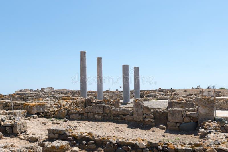 Rovine della città romana antica fotografie stock