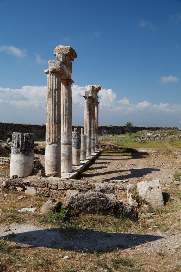 Rovine della citt? antica di Hierapolis Pamukkale La Turchia fotografie stock
