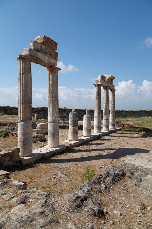 Rovine della citt? antica di Hierapolis Pamukkale La Turchia immagine stock libera da diritti