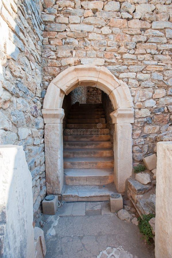 Rovine della citt? antica Ephesus, la citt? del greco antico in Turchia, in un bello giorno di estate fotografia stock libera da diritti