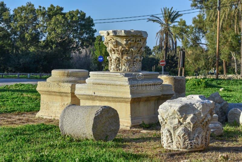 Rovine della fortezza, Ascalona, Israele immagine stock libera da diritti