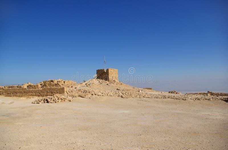 Rovine della fortezza di Masada fotografia stock libera da diritti