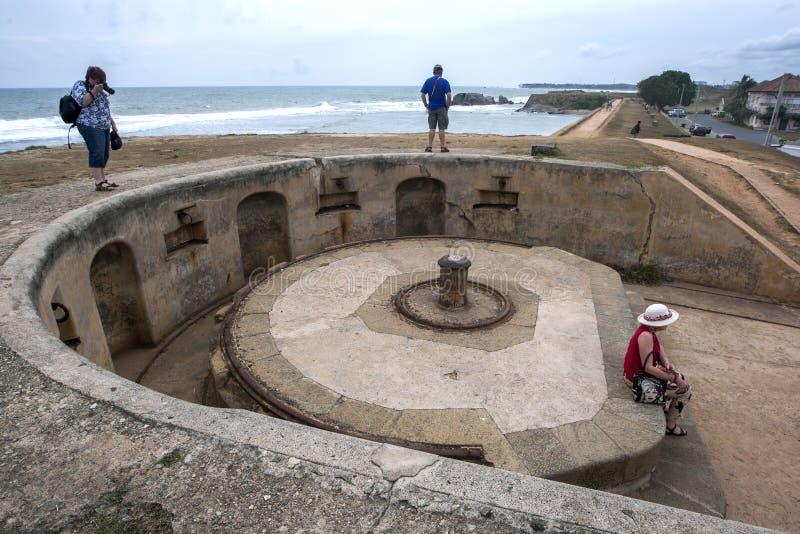 Rovine della fortificazione di Galle nello Sri Lanka immagini stock libere da diritti