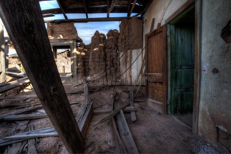 Rovine della miniera dell'avvoltoio, Arizona fotografia stock libera da diritti